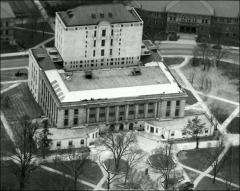 Thumbnail of Thompson Memorial Library, The Ohio State University: Aerial view