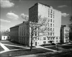 Thumbnail of Thompson Memorial Library, The Ohio State University: Exterior view from northwest