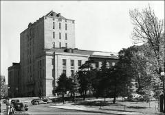 Thumbnail of Thompson Memorial Library, The Ohio State University: Exterior view from southwest, 1951