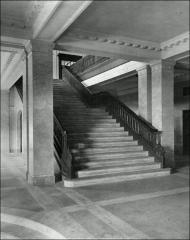 Thumbnail of Thompson Memorial Library, The Ohio State University: Interior view of stairs