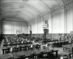 Thumbnail of Thompson Memorial Library, The Ohio State University: Interior view of reading room, 1919