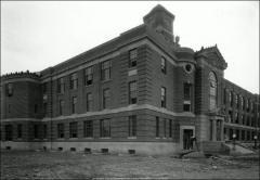 Thumbnail of Ramseyer Hall, The Ohio State University: Exterior view during construction, 1931