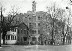Thumbnail of South Dormitory, The Ohio State University: Exterior view (at left)