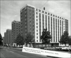 Thumbnail of South Dorms, The Ohio State University: View down 11th Avenue