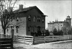 Thumbnail of South Dormitory, The Ohio State University: Exterior view, 1886