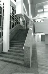 Thumbnail of Wexner Center for the Arts, The Ohio State University: Interior view of stairs from lower level