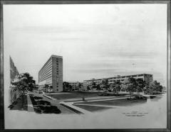 Thumbnail of Medical Center Rendering, The Ohio State University, 1946