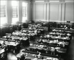 Thumbnail of Thompson Memorial Library, The Ohio State University: Interior view of reading room, 1959