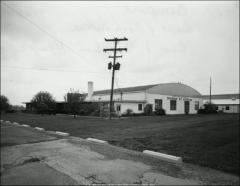 Thumbnail of Hangar No. 5, Ohio State University: Exterior view, southwest elevation