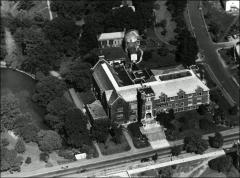 Thumbnail of Pomerene Hall, The Ohio State University: Aerial view, 1947
