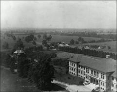 Thumbnail of Lazenby Hall, The Ohio State University: Aerial view