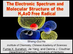 Thumbnail of THE ELECTRONIC SPECTRUM AND MOLECULAR STRUCTURE OF THE ARSENYL (H$_2$As=O) FREE RADICAL