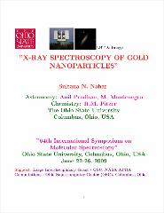 Thumbnail of X-RAY SPECTROSCOPY OF GOLD NANOPARTICLES