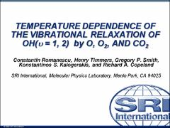 Thumbnail of TEMPERATURE DEPENDENCE OF THE VIBRATIONAL RELAXATION OF OH($\textit{$\upsilon$ }$ = 1, 2) BY O, O${_2}$, AND CO${_2}$