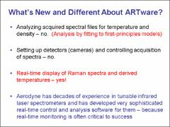 REAL-TIME ANALYSIS OF RAMAN SPECTRA FOR TEMPERATURE FIELD