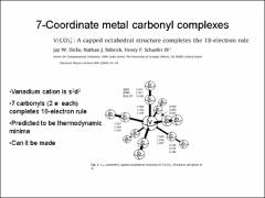 Thumbnail of SPECTROCSOPY AND STRUCTURE OF CATIONIC METAL CARBONYL SYSTEMS M(CO)$_{N}^{+}$ M=V, CO N=1-10