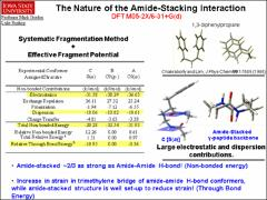 Thumbnail of CONFORMATION-SPECIFIC AND MASS-RESOLVED, INFRARED-POPULATION TRANSFER SPECTROSCOPY OF THE MODEL $\gamma^{2}$-PEPTIDE Ac-$\gamma$$^{2}$-hPhe-NHMe:  EVIDENCE FOR THE PRESENCE OF INTRAMOLECULAR AMIDE-AMIDE STACKING INTERACTIONS.