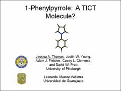 Thumbnail of 1-PHENYLPYRROLE   A TICT MOLECULE?.