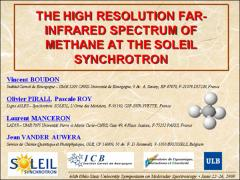 Thumbnail of THE HIGH RESOLUTION FAR-INFRARED SPECTRUM OF METHANE AT THE SOLEIL SYNCHROTRON