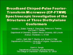 Thumbnail of BROADBAND CHIRPED-PULSE FOURIER-TRANSFORM MICROWAVE SPECTROSCOPIC INVESTIGATION OF THE STRUCTURES OF THREE DIETHYLSILANE CONFORMERS