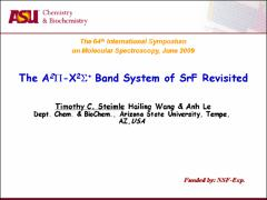 Thumbnail of THE $A^{2}$$\Pi$-$X^{2}$$\Sigma^+$ BAND SYSTEM OF SrF REVISITED