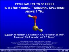 Thumbnail of PECULIAR TRAITS OF HSOH IN ITS ROTATIONAL-TORSIONAL SPECTRUM ABOVE 1 THz