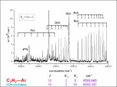 Thumbnail of THE FANTASIO SET-UP (II): HIGH RESOLUTION OVERTONE SPECTROSCOPY OF ACETYLENE CONTAINING VAN DER WAALS DIMERS