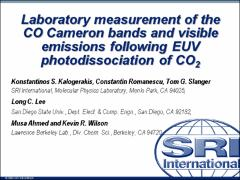 Thumbnail of LABORATORY MEASUREMENT OF THE CO CAMERON BANDS AND VISIBLE EMISSIONS FOLLOWING VUV PHOTODISSOCIATION OF CO${_2}