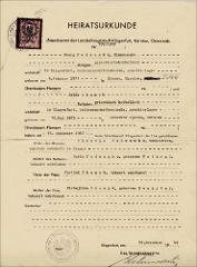 Thumbnail of Civil marriage certificate: Yulia Fedechko (nee Yulia Khomyk)