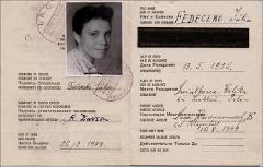 Thumbnail of Displaced Person (DP) Identity booklet : Yulia Fedechko (nee Yulia Khomyk)