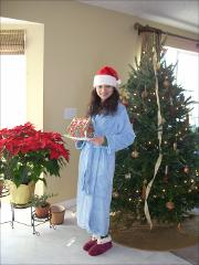 Thumbnail of Photograph: Delaware, Ohio, 2008, Olena Dyedukh at Christmas.