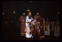 Thumbnail of Patriarch being dressed for St. Sava Day services