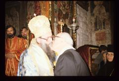 Thumbnail of Metropolitan Jovan decorating Steven Enich with the Order of St. Sava at Peć