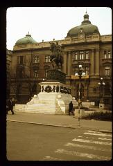 Thumbnail of Miloš Obrenović monument in front of the National Museum