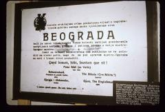 Thumbnail of Austrian army announcement about the capture of Beograd, December 3, 1914