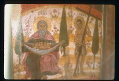 Thumbnail of Panel in unidentified church -- on left: Jacob -- on right: the Good Thief, crucified along with Jesus