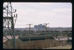 Thumbnail of Closeup of view facing southeast toward downtown Milwaukee, from I-94