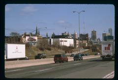 Thumbnail of Marquette University, Milwaukee -- view from I-94E facing north, just before N. 16th St. bridge