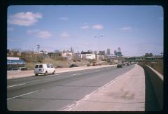 Thumbnail of Marquette University, Milwaukee -- view from I-94E facing north, near N. 16th St. bridge