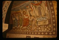Thumbnail of Jesus restores sight to the blind man -- mosaic
