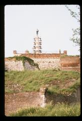 Thumbnail of Kalemegdan wall -- Monument to the Victor being restored.
