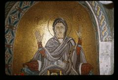 Thumbnail of The Theotokos -- mosaic