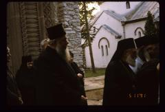 Thumbnail of Placing Bishop Nikolaj Velimirović in van for transport to Lelić