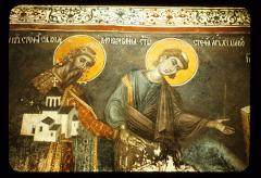 Thumbnail of Morača Monastery -- Ktitor's portrait of Stefan Njemanić and St. Archdeacon Stefan-- 17th c.