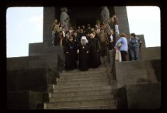 Thumbnail of Patriarch at Avala -- Leaving the shrine of the Monument of Unknown Hero