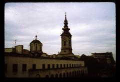 Thumbnail of Patriaršija (dome) and Cathedral Church of St. Michael the Archangel (Saborna church)  -- Clock tower