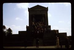 Thumbnail of Patriarch at Avala -- Descending the steps outside the Monument of the Unknown Hero