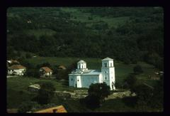 Thumbnail of Nova Pavlica -- panoramic vew of the church Vavedenje (The Presentation of the Theotokos) and the area