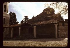 Thumbnail of Front entrance to the church of St. Kliment monastery - exterior view