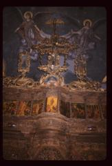 Thumbnail of Church of the Holy Savior -- upper ikonostas (a dove and the Holy Spirit above the Cross)